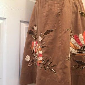 BCBG MazAzria Embroidered Skirt w/beading detail